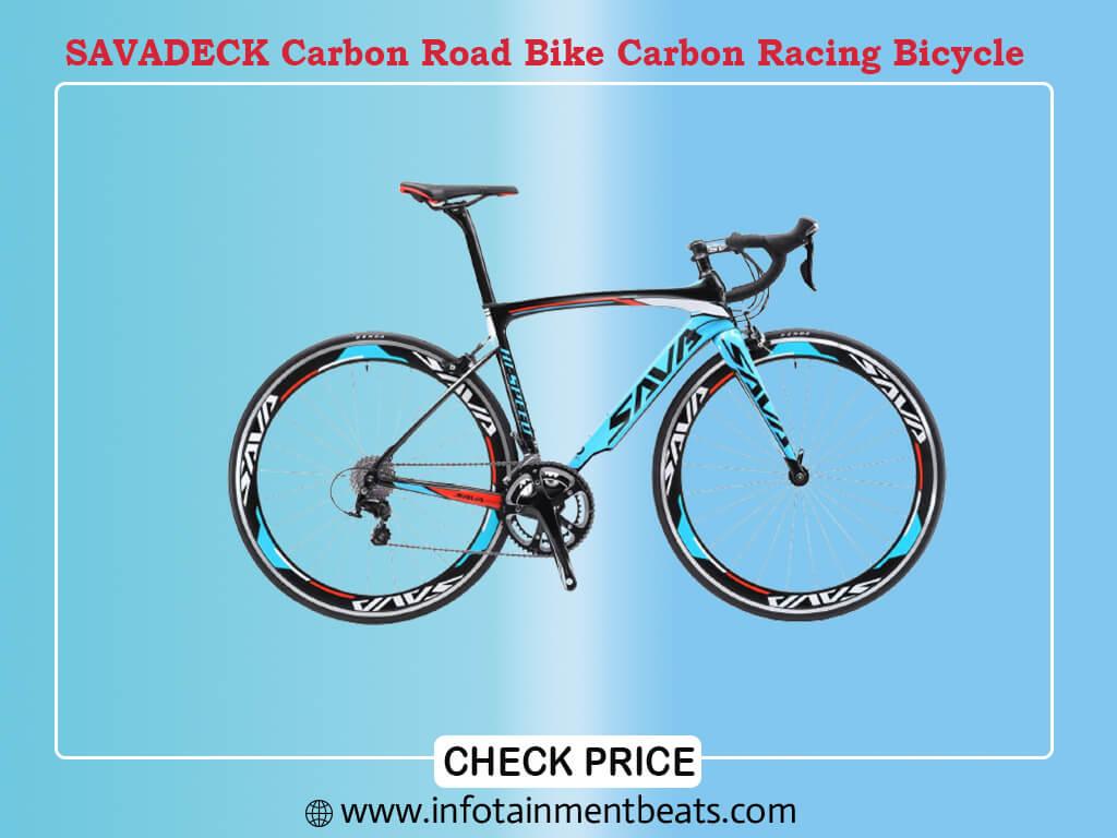 SAVADECK Carbon Road Bike, Warwinds3.0 700C Carbon Fiber Racing Bicycle