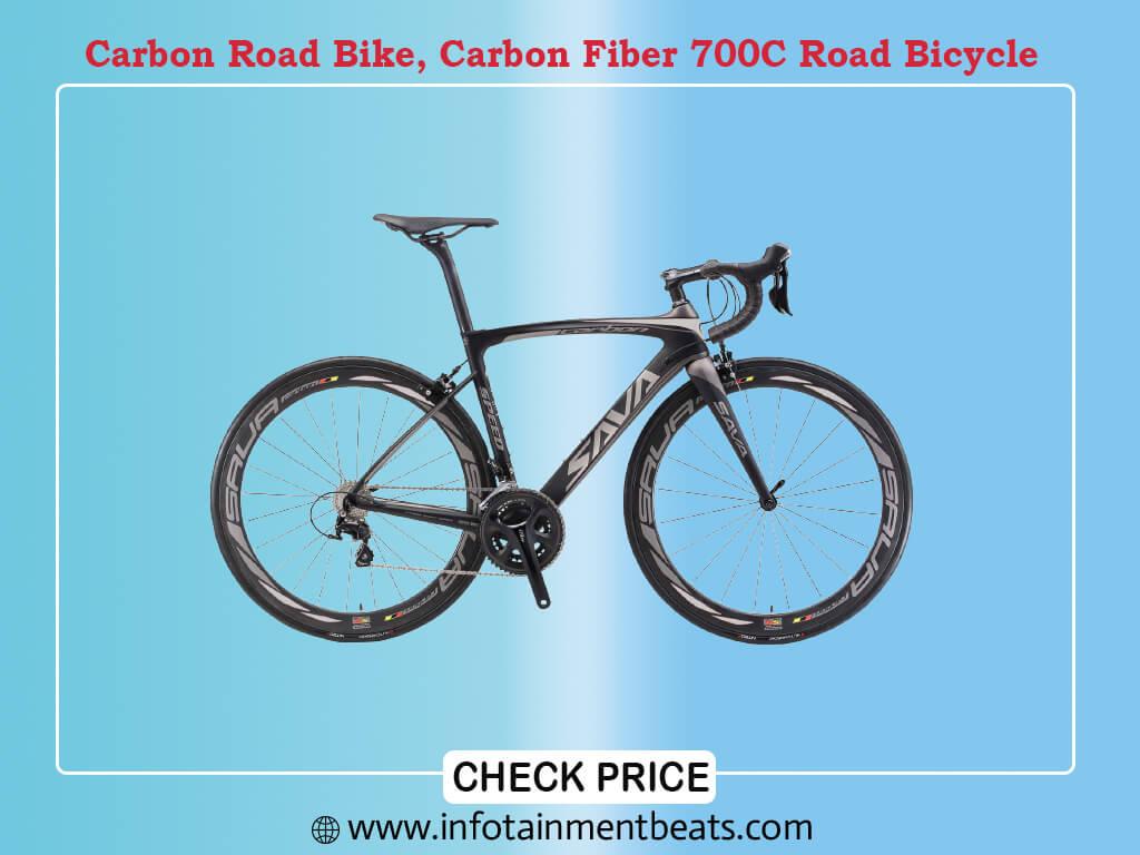 Carbon Road Bike, SAVA HERD6.0 T800 Carbon Fiber 700C Road Bicycle