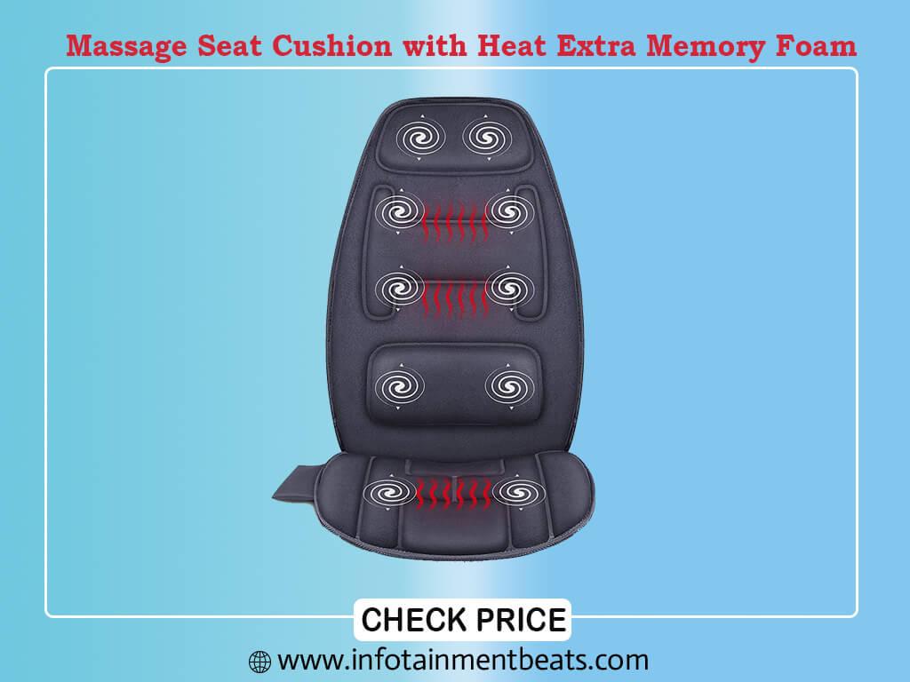 Snailax Massage Seat Cushion with Heat Extra Memory Foam