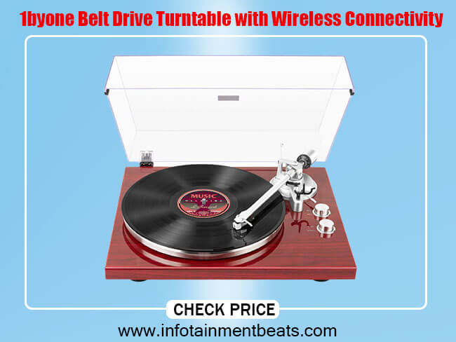 byone Belt Drive Turntable with Wireless Connectivity