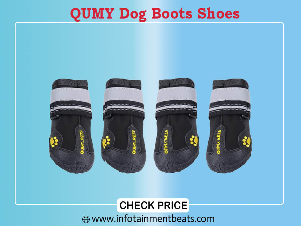 QUMY Dog Boots Shoes for Large Breed Dogs