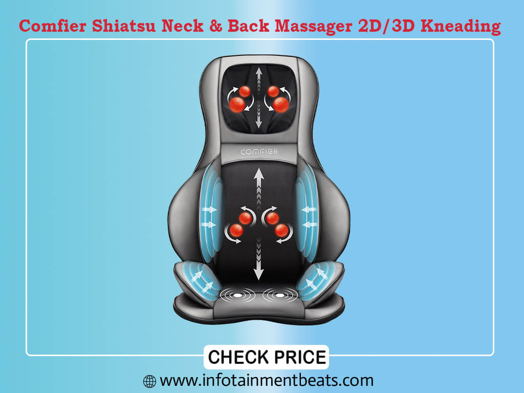 Comfier Shiatsu Neck & Back Massager 2D 3D Kneading