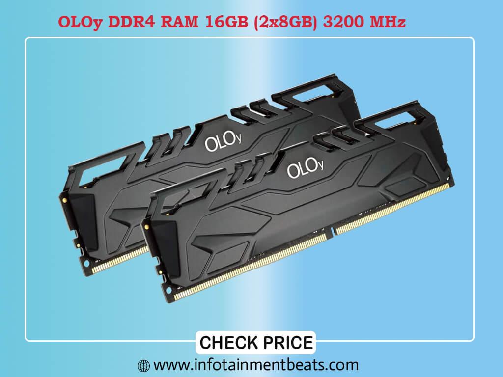 OLOy DDR4 RAM 16GB (2x8GB) 3200 MHz CL16 1.35V 288-