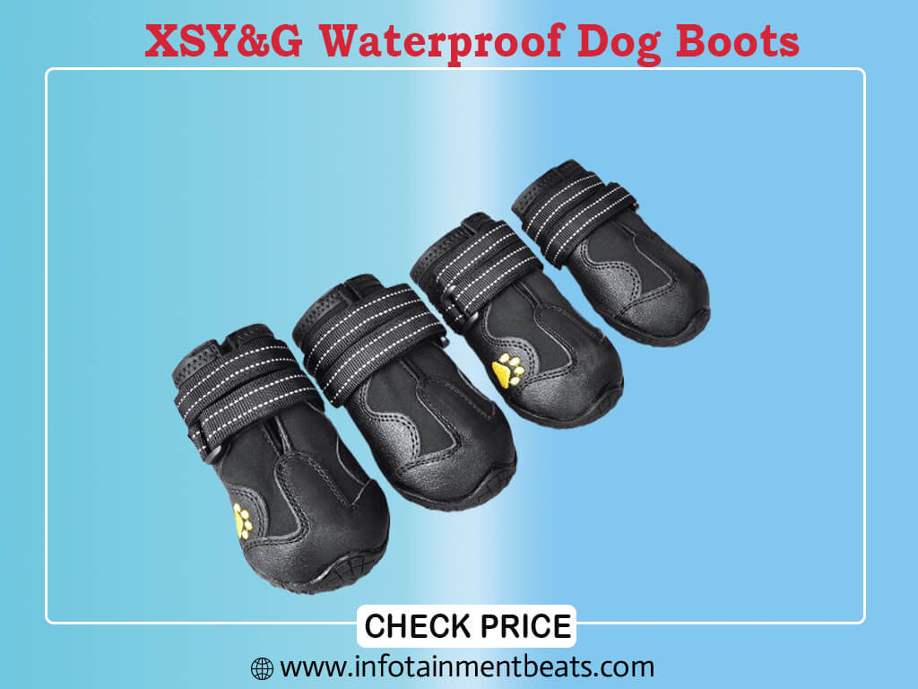 XSY&G Dog Boots,Waterproof Dog Shoes,Dog Booties