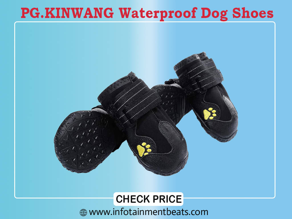 PG.KINWANG Dog Boots Waterproof Dog Shoes