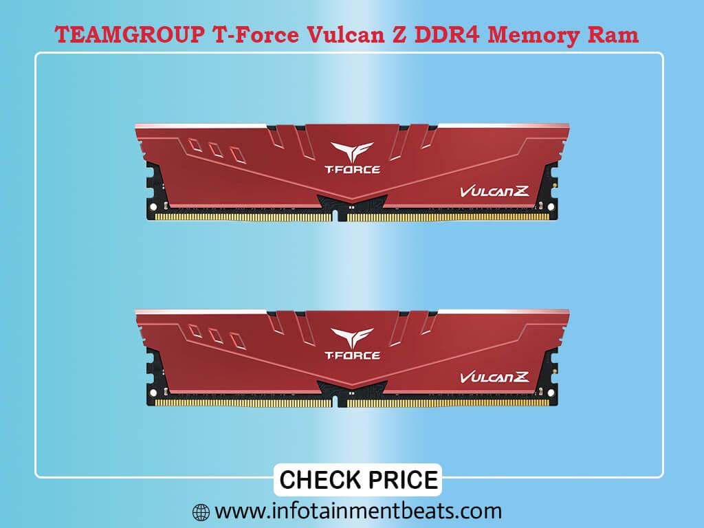 TEAMGROUP T-Force Vulcan Z DDR4 32GB Kit (2x16GB) 3600MHz (PC4-28800) CL18 Desktop Memory Module Ram
