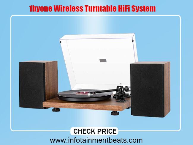1byone Wireless Turntable HiFi System