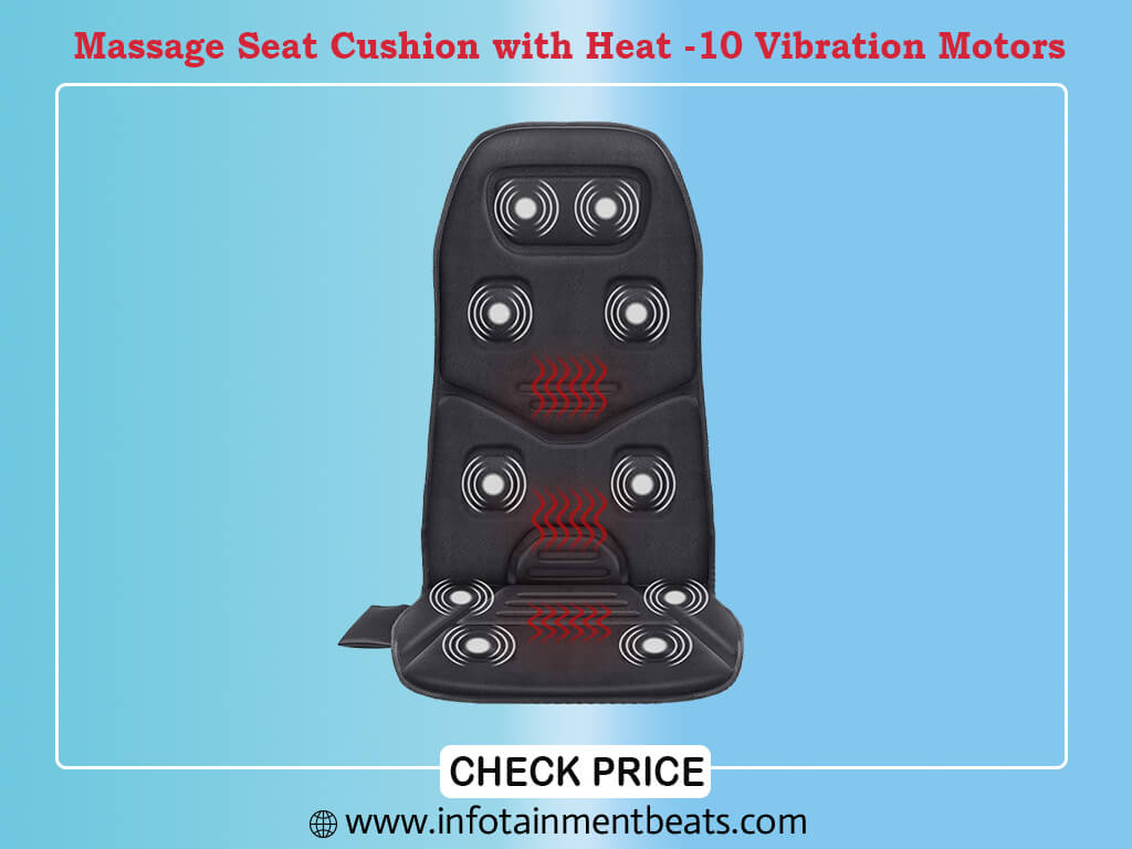 Comfier Massage Seat Cushion with Heat - 10 Vibration Motors