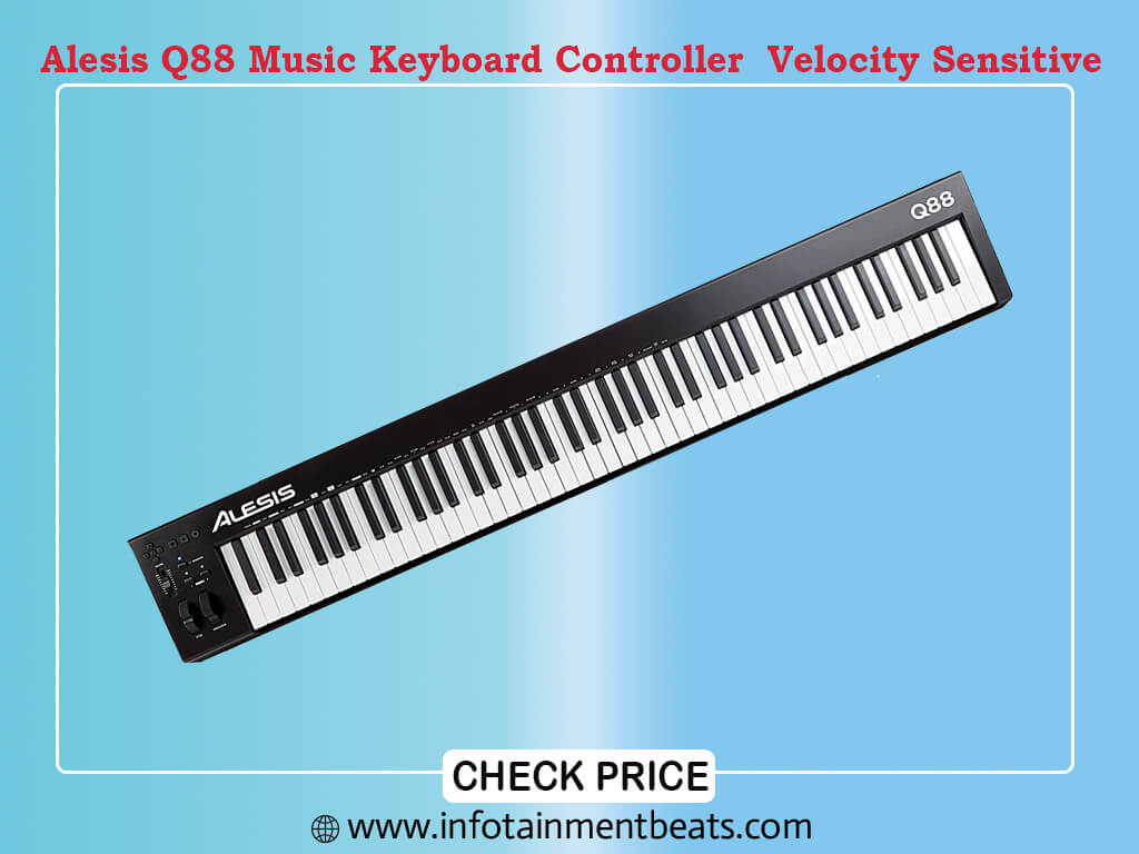 Alesis Q88 MKII - 88 Key USB MIDI Keyboard Controller with Full Size Velocity Sensitive
