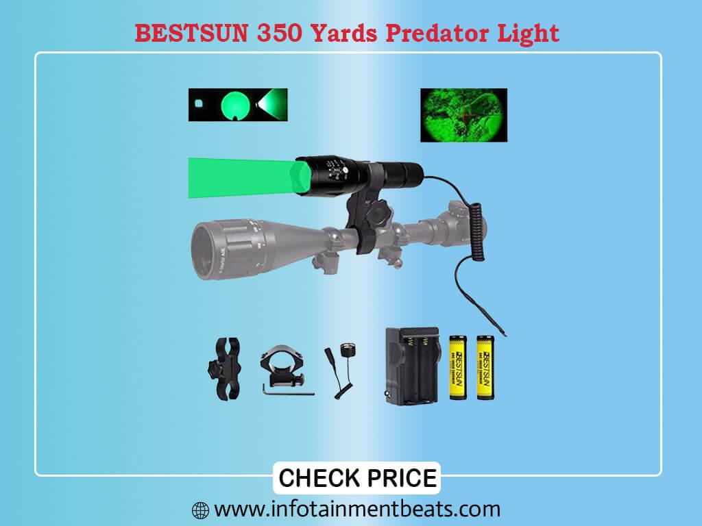 - BESTSUN 350 Yards Predator Light