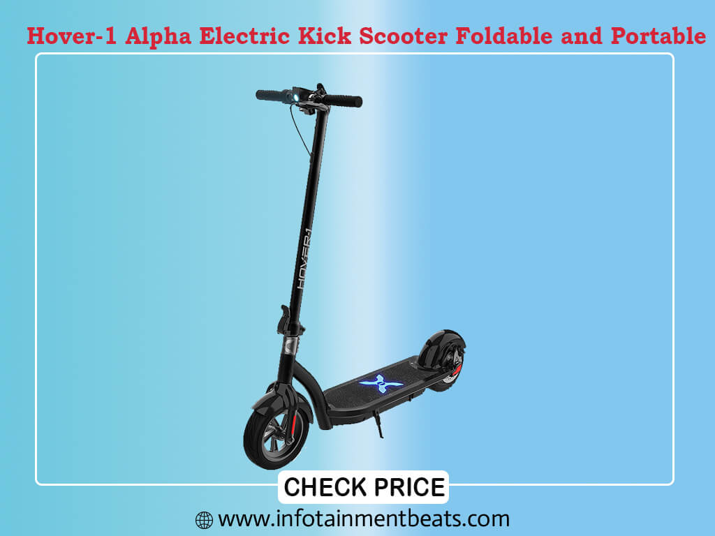 Hover-1 Alpha Electric Kick Scooter Foldable and Portable