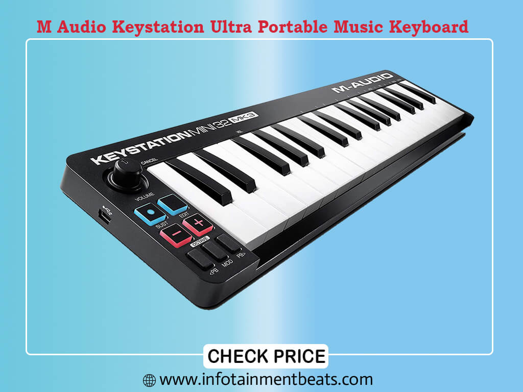 M Audio Keystation Mini 32 MK3 Ultra Portable Mini USB MIDI Keyboard Controller