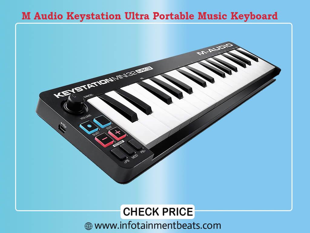 M Audio Keystation Mini 32 MK3 Ultra Portable Mini USB MIDI Keyboard Controller