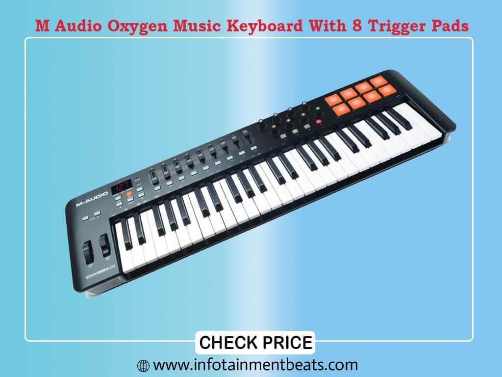 M Audio Oxygen 49 V 49 Key USB MIDI Keyboard With 8 Trigger Pads A Full