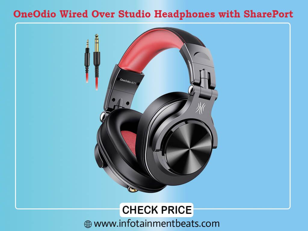 OneOdio A71 Wired Over Ear Headphones, Studio Headphones with SharePort
