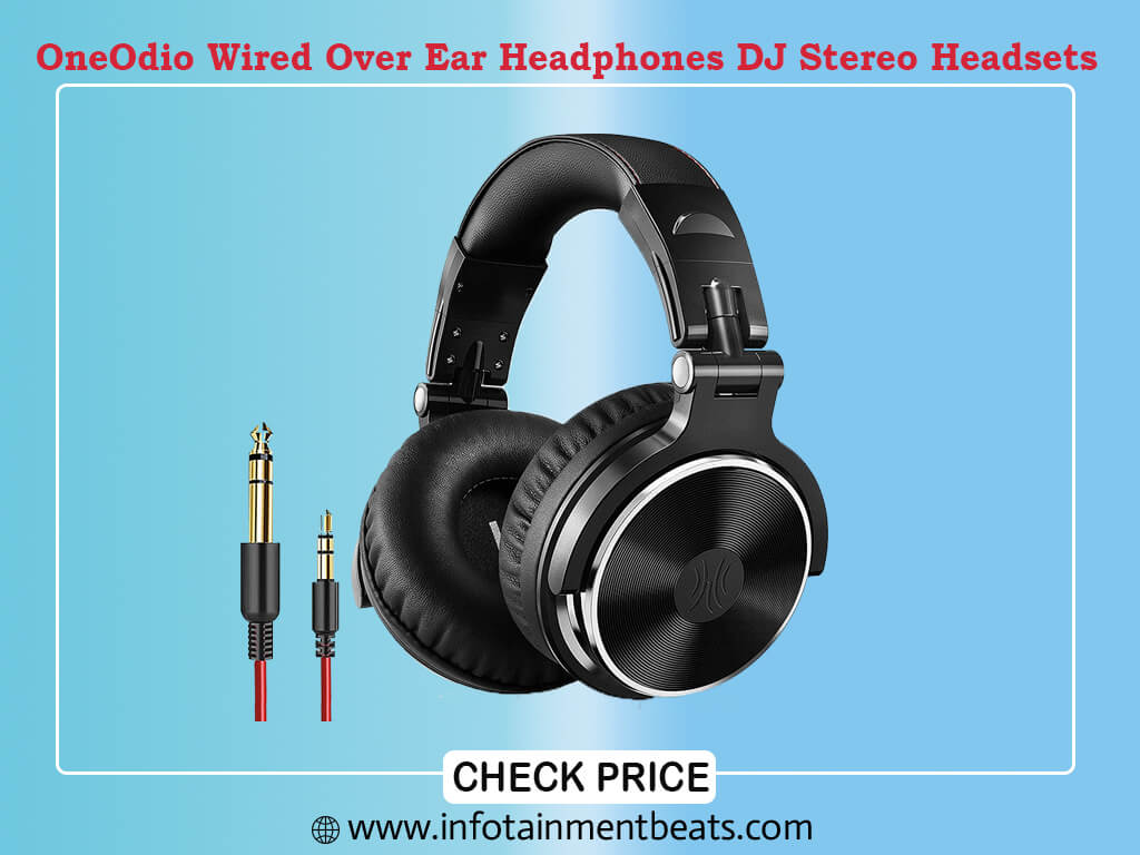 OneOdio Wired Over Ear Headphones Mixing DJ Stereo Headsets