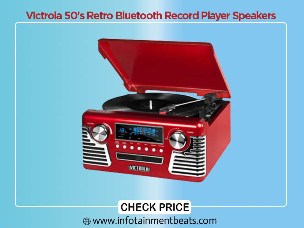Victrola 50s Retro Bluetooth Record Player Speakers
