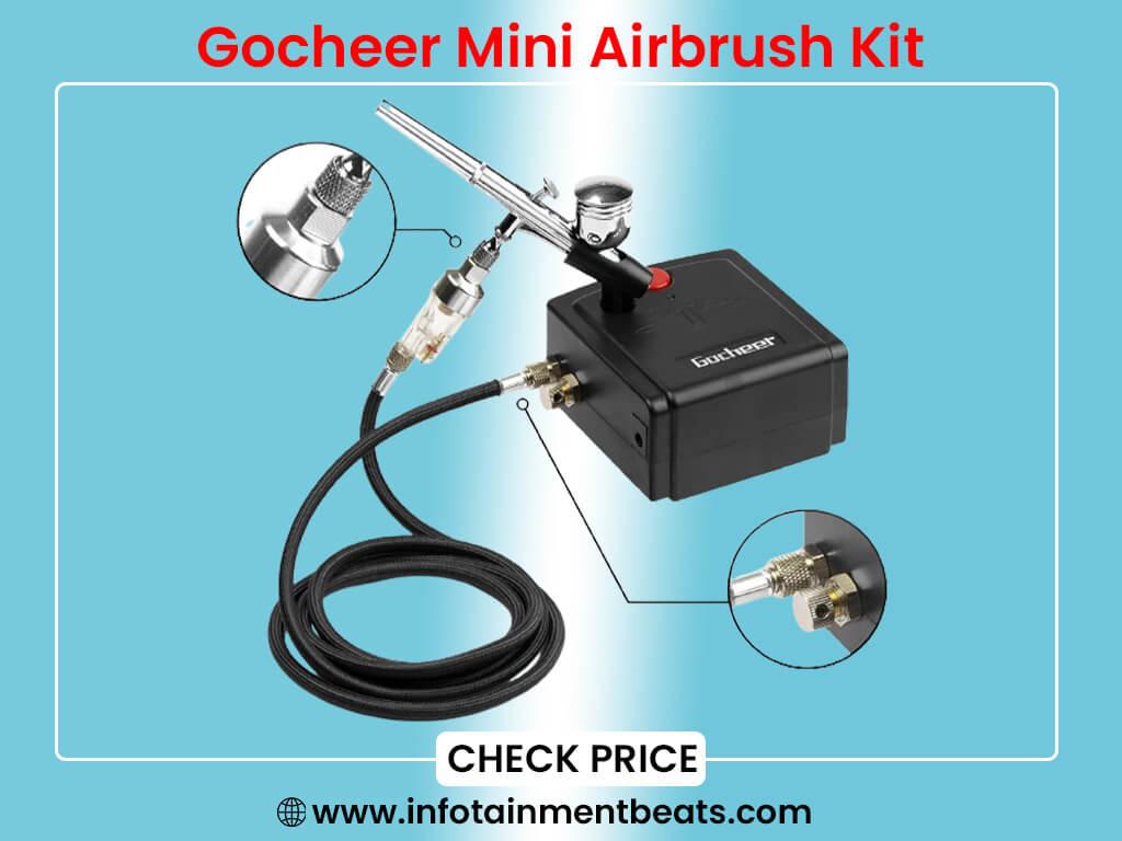 Gocheer Mini Airbrush Kit, Dual-Action Air Brush Pen Gravity Feed
