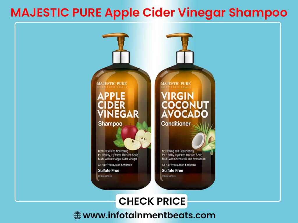 MAJESTIC PURE Apple Cider Vinegar Shampoo and Avocado Coconut Conditioner