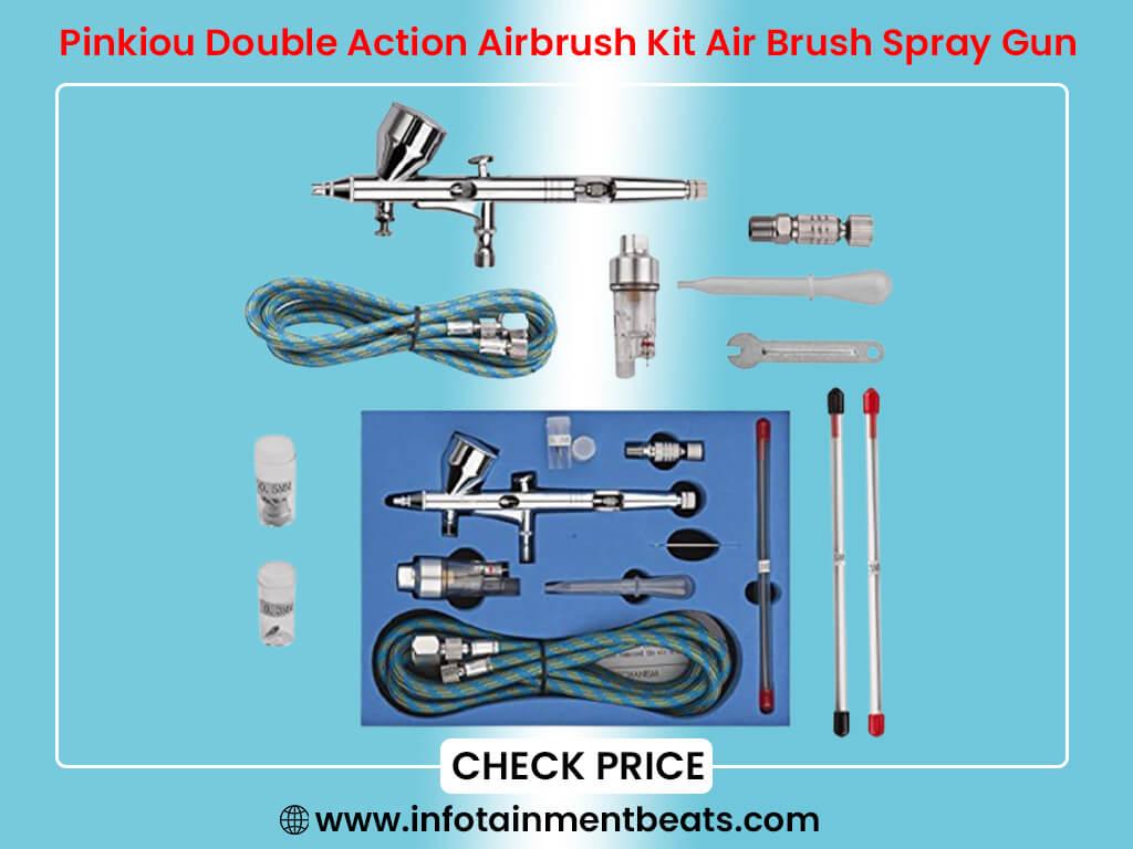 Pinkiou Double Action Airbrush Kit Air Brush Spray Gun