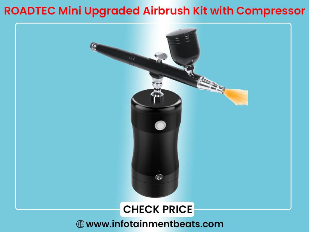 ROADTEC Mini Upgraded Airbrush Kit with Compressor