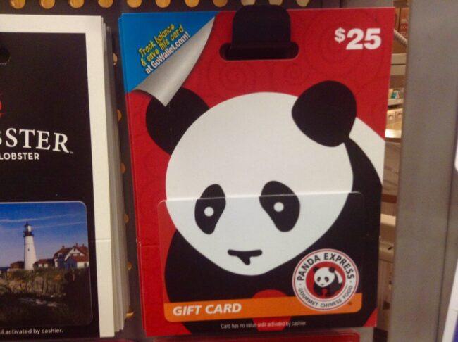 card of Panda Express